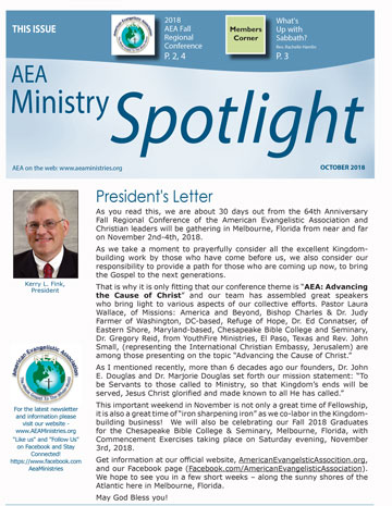 October 2018 AEA Ministries Spotlight