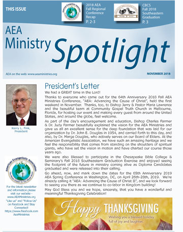 NOVEMBER AEA Ministries Spotlight